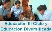 Enlace a Educación III ciclo y diversificada